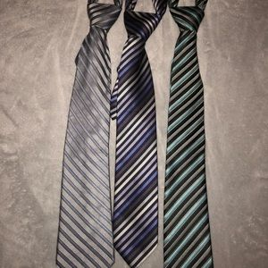 Other - Bundle of 3 striped neckties